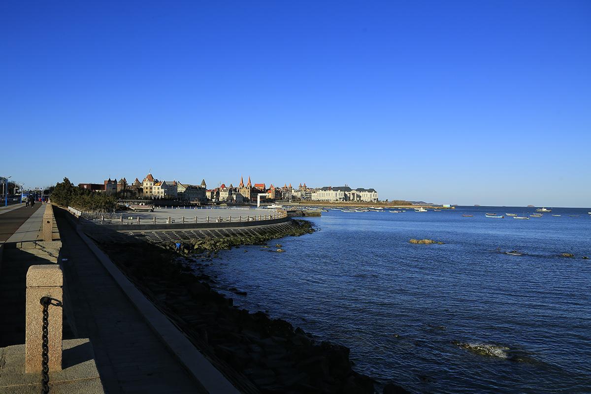 蓝天下的美丽港湾 _ 自然风景 _ 中国风景摄影网